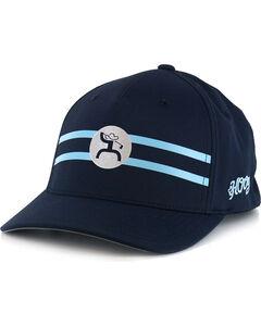 HOOey Men's Perf Golf FlexFit Ball Cap, Blue, hi-res
