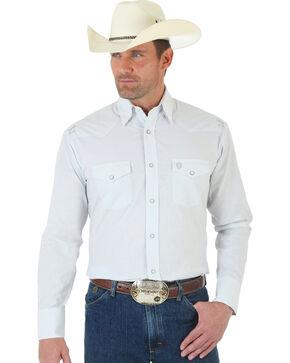 Wrangler George Strait Troubadour Grey and White Jacquard Shirt, Grey, hi-res