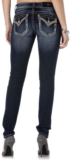 Miss Me Women's Glitzy Grapevine Skinny Jeans, Indigo, hi-res