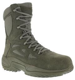"Reebok Men's Stealth 8"" Lace-Up Side-Zip Work Boots - Composition Toe, , hi-res"