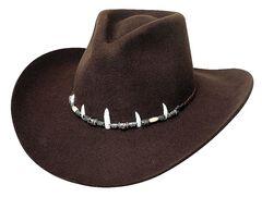 Bullhide Jimmy Rifle Face Off 4X Premium Wool Cowboy Hat, , hi-res
