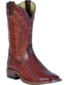 Boulet Peanut Caiman Belly Boots - Square Toe, , hi-res