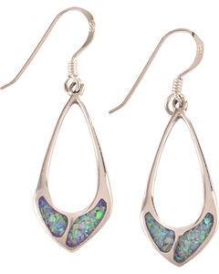 Silver Legends Women's Sterling Silver & Opal Dangle Earrings, , hi-res