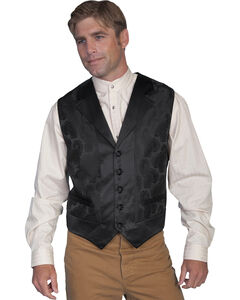Rangewear by Scully Black Paisley Vest - Big and Tall, , hi-res