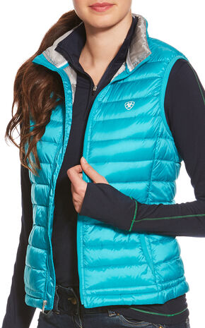 Ariat Women's Lanai Blue Ideal Down Vest , Blue, hi-res
