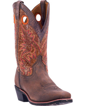 Laredo Men's Leather Stillwater Western Boots - Square Toe, Brown, hi-res