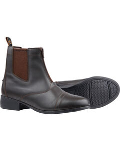 Dublin Foundation Zip Paddock Brown Equestrian Boots, , hi-res