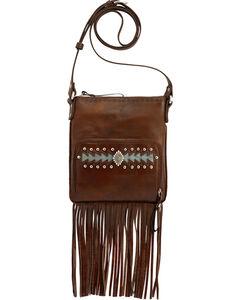 American West Moon Dancer Chestnut Brown Crossbody Bag, , hi-res