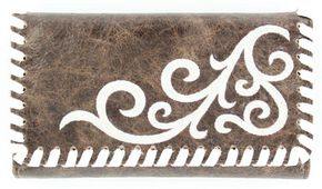 Blazin Roxx Vintage Whipstitched Wallet, Brown, hi-res