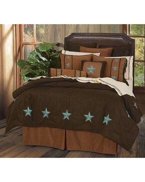 HiEnd Accents Turquoise Laredo 6-Piece Queen Comforter Set, Multi, hi-res
