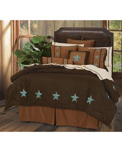 HiEnd Accents Turquoise Laredo 6-Piece Full Comforter Set, , hi-res
