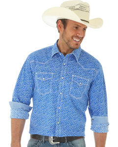 Wrangler 20X Men's Long Sleeve Floral Snap Button Shirt, , hi-res