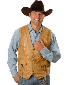 Kobler Raw Edge Leather Vest, , hi-res