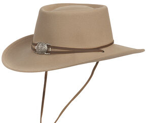 Silverado Men's Dusty Crushable Wool Western Hat, Beige, hi-res