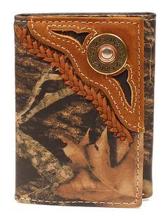 Nocona Mossy Oak Camo Shotgun Shell Tri-Fold Wallet, , hi-res