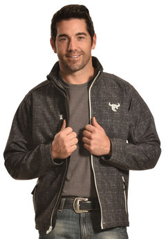 Cowboy Hardware Men's Black Softshell Jacket, , hi-res