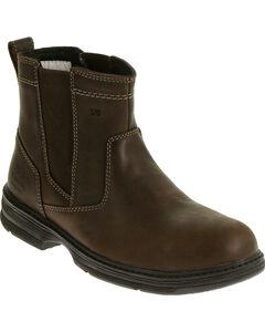 Caterpillar Men's Brown Inherit Pull On Work Boots - Steel Toe , , hi-res