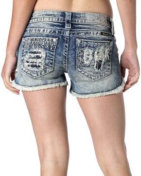 Miss Me Women's Heavy Metal Denim Shorts, Denim, hi-res