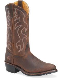 """Double-H Men's 12"""" Western Work Boots - Steel Toe, , hi-res"""
