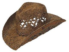 Peter Grimm Jarales Faux Snakeskin Hat Band Straw Cowgirl Hat, , hi-res