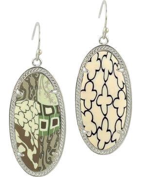 Jilzarah Latte Silver Frame Earrings, Latte, hi-res