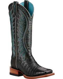 Ariat Vaquera Caiman Belly Cowgirl Boots - Square Toe, , hi-res