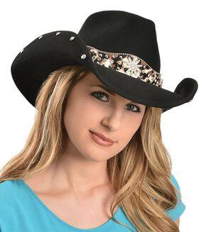 Bullhide Euphoria Wool Cowgirl Hat, Black, hi-res