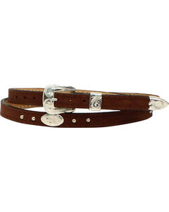 M & F Western Men's Leather Oval Concho Hatband, , hi-res