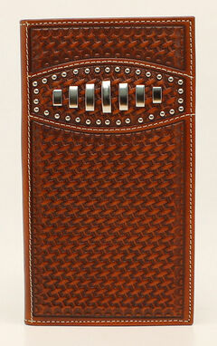 Ariat Basketweave Concho Rodeo Wallet, , hi-res