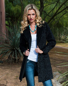 WahMaker by Scully Floral Flocked Coat, , hi-res