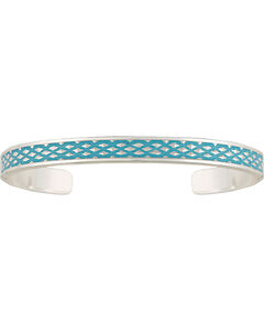 Montana Silversmiths Women's CrossCut Turquoise Narrow Cuff Bracelet, , hi-res