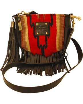 STS Ranchwear Women's Princesa Serape Medicine Bag, Red, hi-res