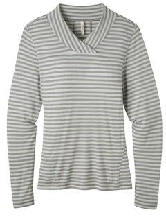 Mountain Khakis Women's Rendezvous Micro Wrap Neck Stripe Shirt, , hi-res