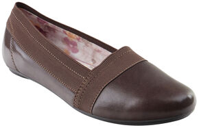 Eastland Women's Brown Seren Slip-On Flats, Brown, hi-res