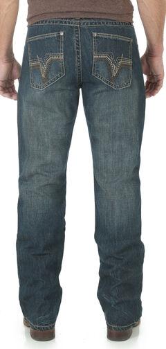 Wrangler 20X Men's 42 Vintage Bootcut Jeans, Dark Blue, hi-res