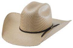 Tony Lama Rio Spotted Sheridan Straw Cowboy Hat, , hi-res
