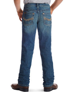 Ariat Boy's B4 Keen Relaxed Boot Cut Jeans, , hi-res