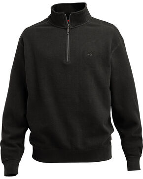 Wolverine Men's Black Denton Thermal Quarter Zip Shirt, Black, hi-res