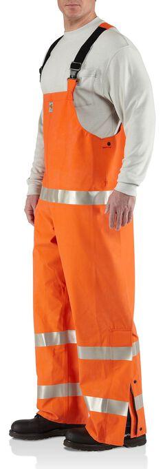 Carhartt Flame Resistant Rainwear Bib Overalls, , hi-res