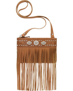 American West Saratoga Collection Fringe Crossbody Pouch, , hi-res