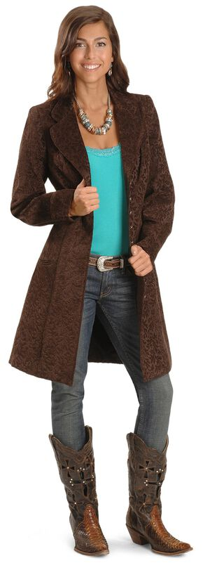Scully Chenille Frock Coat, Brown, hi-res
