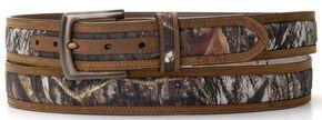 Nocona Mossy Oak Camo Belt, Camouflage, hi-res