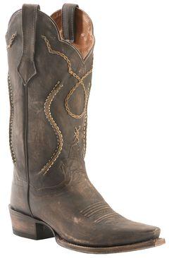 Dan Post Tyree Chain Lace Cowboy Boots - Snip Toe, , hi-res