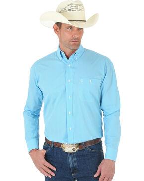 Wrangler George Strait One Pocket Turquoise Print Shirt, Turquoise, hi-res