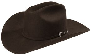 Stetson 4X Corral Buffalo Felt Cowboy Hat, Chocolate, hi-res