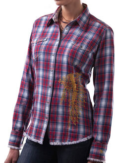 Barn Fly Women's Headdress Flannel Plaid Shirt, , hi-res