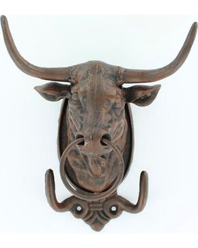 Western Moments Bull Wall Hanger, Brown, hi-res