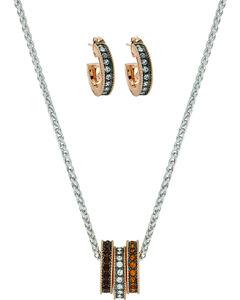 Montana Silversmiths Women's Sunset Lights Triple Ring Jewelry Set, , hi-res