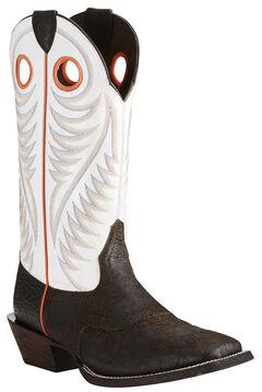 Ariat Men's Circuit Stomper Boots - Wide Square Toe, Chocolate, hi-res
