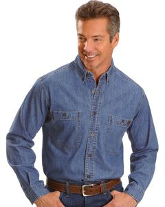 Wrangler Riggs Denim Shirt - Big, Tall, Big/Tall, , hi-res